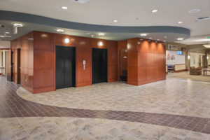 Two of three elevators
